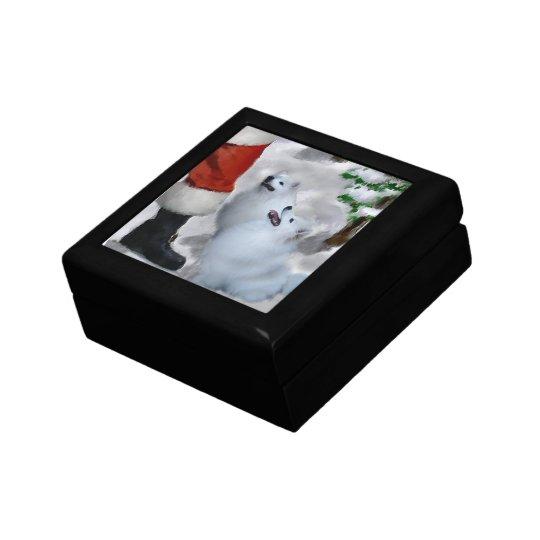 American Eskimo Dog Christmas Jewelry Box