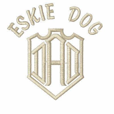 American Eskimo Dog DAD Embroidered Shirt