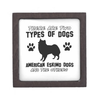 American eskimo Dog designs Premium Trinket Boxes
