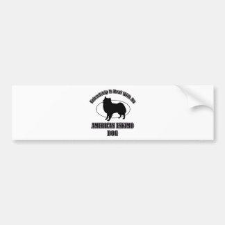 AMERICAN ESKIMO DOG DOG DESIGNS BUMPER STICKER