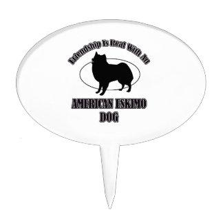 AMERICAN ESKIMO DOG DOG DESIGNS CAKE PICKS