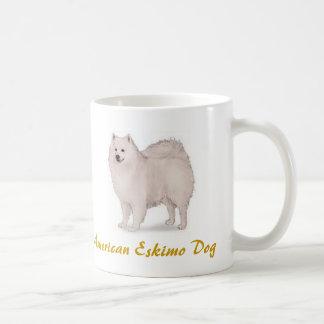 American Eskimo Dog, Dog Log Lover Galore! Classic White Coffee Mug