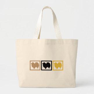 American Eskimo Dog Eskie Large Tote Bag