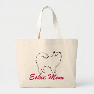 American Eskimo Dog Eskie Mom Large Tote Bag
