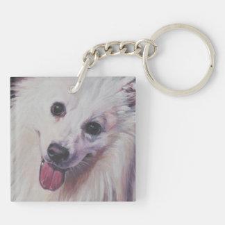 AMERICAN ESKIMO DOG Fine Art Painting Keychain