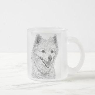 American Eskimo Dog Frosted Glass Coffee Mug