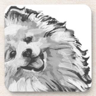 american eskimo dog Fun bright colorful Pop Art Coaster
