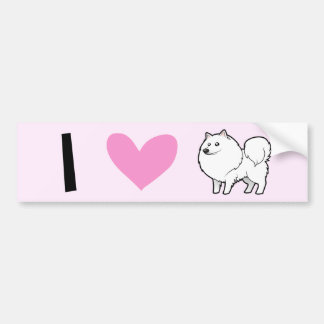 American Eskimo Dog / German Spitz Love Bumper Sticker