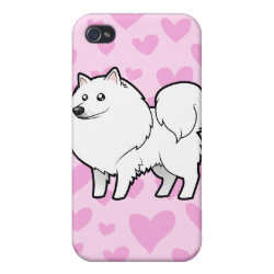 Case Savvy iPhone 4 Matte Finish Case with Samoyed Phone Cases design