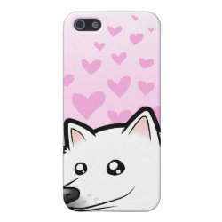 Case Savvy iPhone 5 Matte Finish Case with Samoyed Phone Cases design