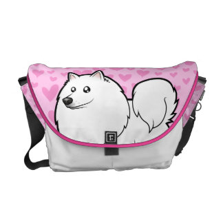 American Eskimo Dog / German Spitz Love Courier Bag