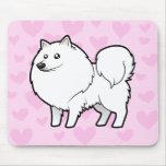 American Eskimo Dog / German Spitz Love Mouse Pads