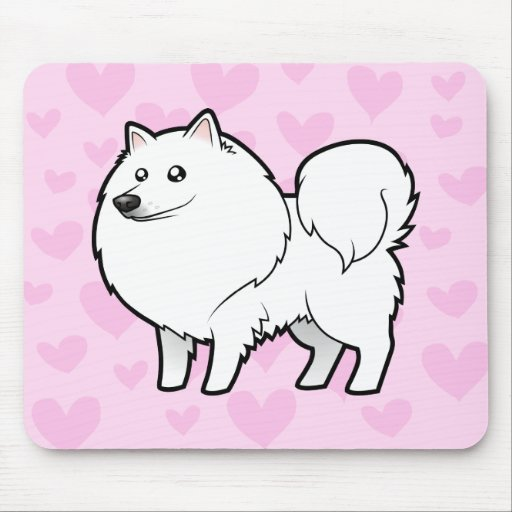 American Eskimo Dog / German Spitz Love Mouse Pads