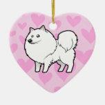 American Eskimo Dog / German Spitz Love Christmas Tree Ornament