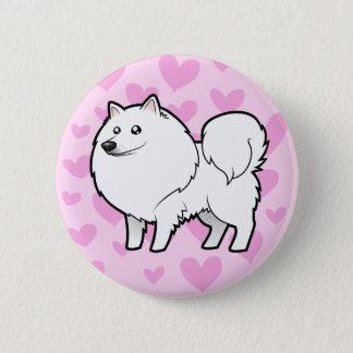 American Eskimo Dog / German Spitz Love Pinback Button