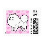 American Eskimo Dog / German Spitz Love Postage Stamps