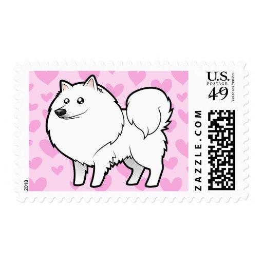 American Eskimo Dog / German Spitz Love Stamps
