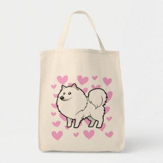 American Eskimo Dog / German Spitz Love Tote Bag