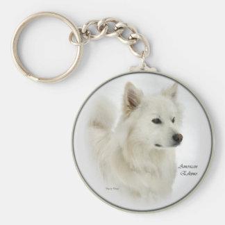 American Eskimo Dog Gifts Art Keychain