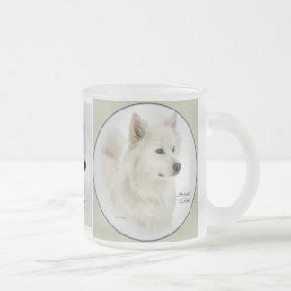 American Eskimo Dog Gifts Frosted Glass Coffee Mug