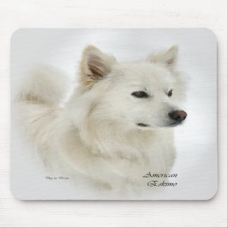 American Eskimo Dog Gifts Mouse Pads