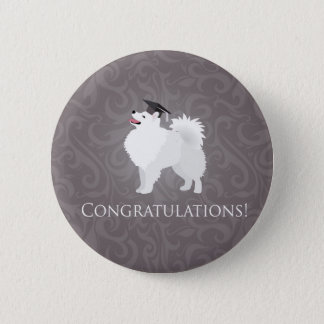 American Eskimo Dog Graduation Design Button