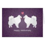 American Eskimo Dog Happy Anniversary Design Card