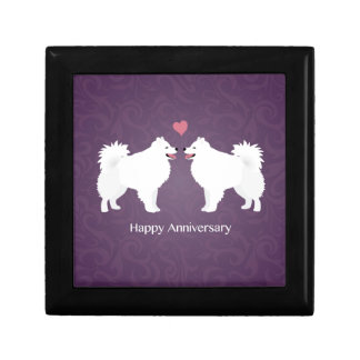 American Eskimo Dog Happy Anniversary Design Keepsake Box