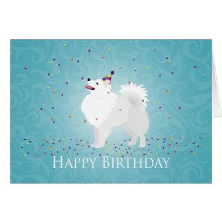 American Eskimo Dog Happy Birthday Design Card