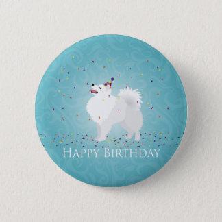 American Eskimo Dog Happy Birthday Design Pinback Button