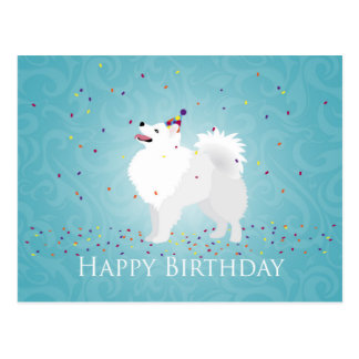 American Eskimo Dog Happy Birthday Design Postcard