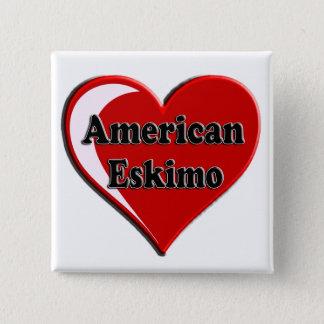 American Eskimo Dog Heart Button