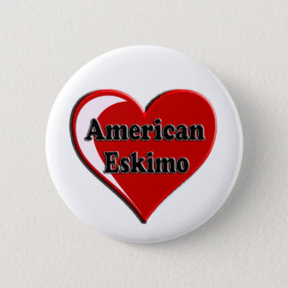 American Eskimo Dog Heart for Dog Lovers Pinback Button
