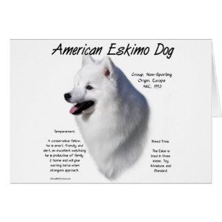 American Eskimo Dog History Design Card