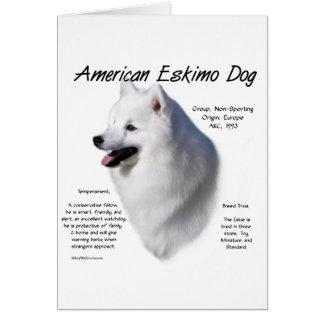 American Eskimo Dog History Design Greeting Card