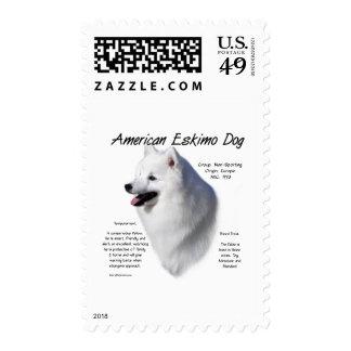 American Eskimo Dog History Design Stamps