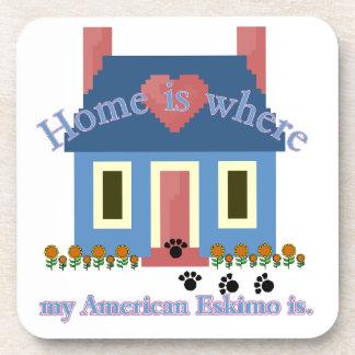 AMERICAN ESKIMO DOG HOME IS COASTER