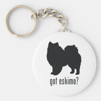 American Eskimo Dog Keychain