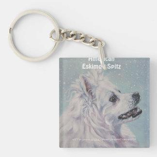 """American Eskimo Dog"" Keychain"