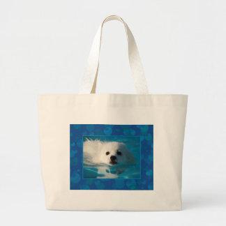 American Eskimo Dog Large Tote Bag