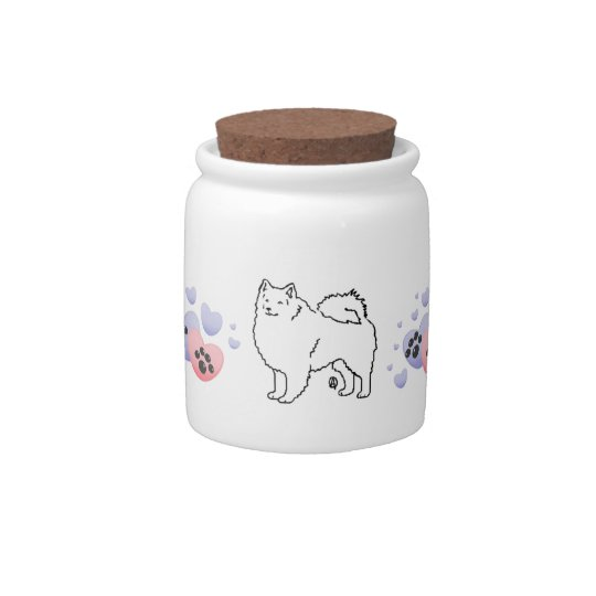 American Eskimo Dog Love Candy Dishes