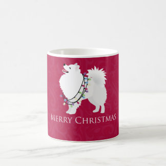 American Eskimo Dog Merry Christmas Design Coffee Mug