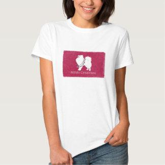 American Eskimo Dog Merry Christmas Design T-Shirt