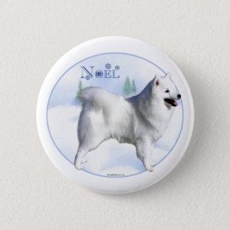 American Eskimo Dog Noel - Button