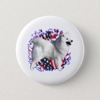 American Eskimo Dog Patriot Pinback Button