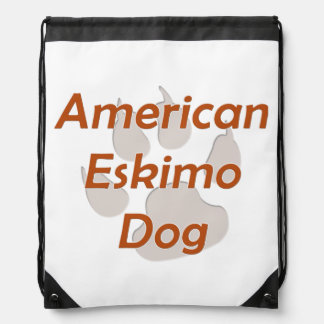 American Eskimo Dog Paw Cinch Bags
