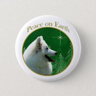 American Eskimo Dog Peace Pinback Button