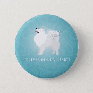 American Eskimo Dog Pet Loss Sympathy Design Button