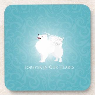 American Eskimo Dog Pet Loss Sympathy Design Drink Coaster