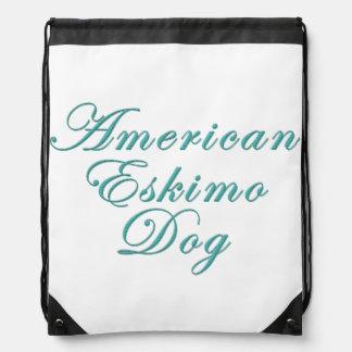 American Eskimo Dog Cinch Bag